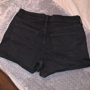 Black boyfriend jean shorts
